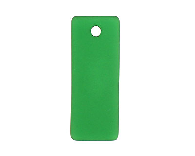 Shamrock Recycled Glass Bottle Curve Rectangle 14x35mm