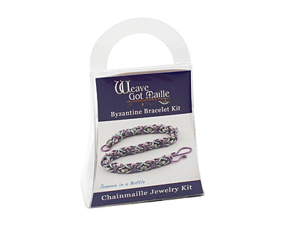 Weave Got Maille Jeannie in a Bottle Byzantine Bracelet Kit