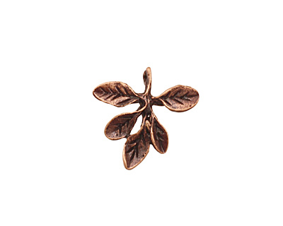 Ezel Findings Antique Copper Barberry Leaves Pendant 17mm