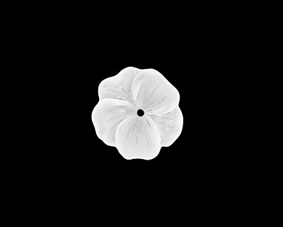 Matte Crystal Lucite Buttercup Flower 4x14mm