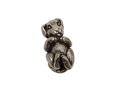 Green Girl Pewter Hugging Puppy 20x12mm