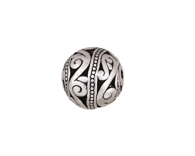 Antique Silver (plated) Openwork Scrolling Vine Round 14.5mm