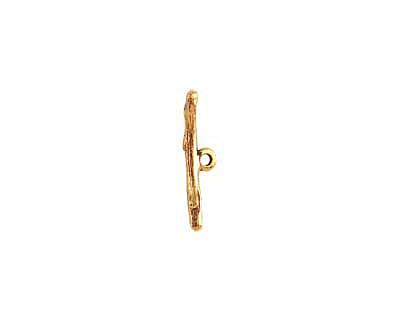 Nunn Design Antique Gold (plated) Twig Toggle Bar 25x3mm