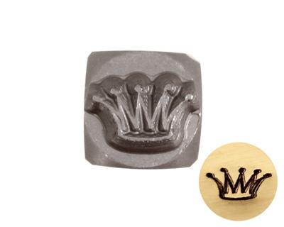 Crown Metal Stamp 6mm