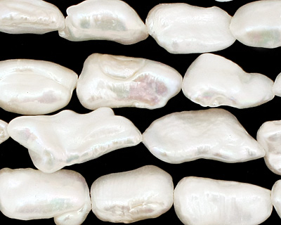 Pearly White Keishi Rice 17-23x9-10mm