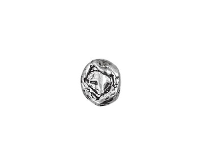 Rustic Charms Sterling Silver Large Oval Bead 10x9mm