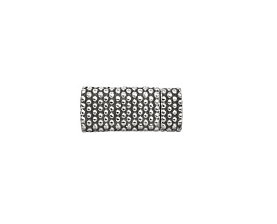 Antique Silver (plated) Dot Magnetic Clasp 17x7mm