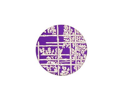 Lillypilly Purple Bamboo Anodized Aluminum Disc 19mm, 24 gauge