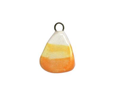 Jangles Ceramic Candy Corn Charm 12-14x20-21mm