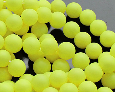 Neon Yellow Shell Pearl Round 8mm