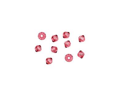 Swarovski Indian Pink Faceted Bicone 3mm (5301)
