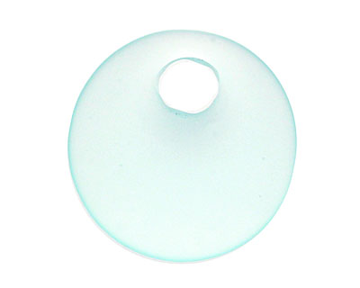 Seafoam Recycled Glass Off Center Donut 30mm