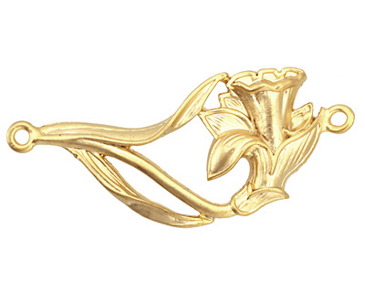 Ezel Findings Gold (plated) Daffodil Link 43x19mm