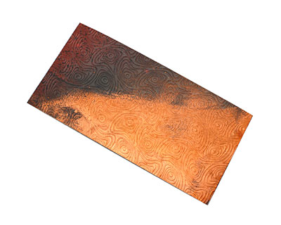 Lillypilly Rojo Y Negro Psychedelic Embossed Patina Copper Sheet 3