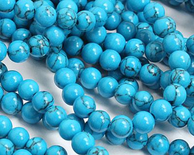 Howlite Turquoise Round 6mm