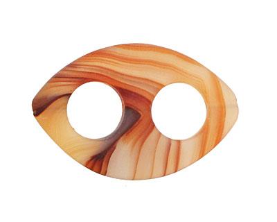 Carnelian (natural matte) Drilled Horse Eye 35-37x22-23mm