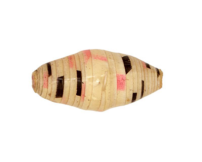 African Paper (beige, black, hot pink) Rice 29-30x14-15mm