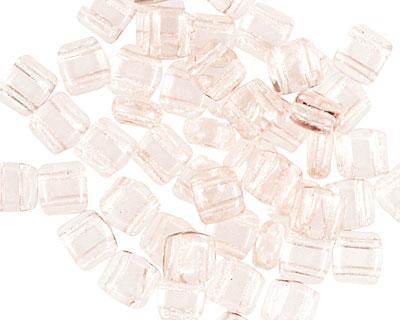 CzechMates Glass Rosaline 2-Hole Tile 6mm