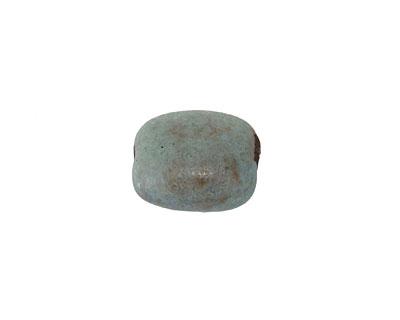Gaea Ceramic Cool Patina on Chocolate Pebble Bead 13-15x11-13mm