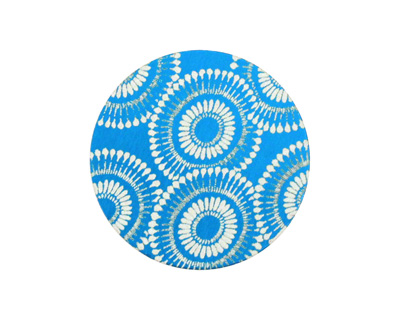 Lillypilly Turquoise Dandelion Anodized Aluminum Disc 25mm, 24 gauge