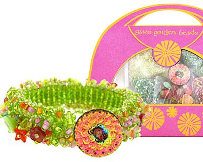 Glass Garden Lime Caterpillar Bracelet Kit
