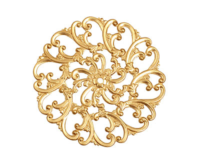 Brass Scrolling Filigree 58mm