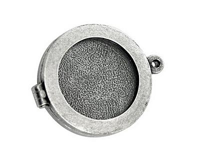 Nunn Design Antique Silver (plated) Small Plain Locket 30mm
