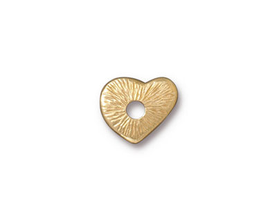 TierraCast Gold (plated) Heart Rivetable 12mm
