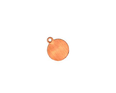 Copper Circle Blank Charm 9x10mm