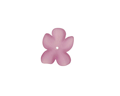 Matte Light Amethyst Lucite Hibiscus Flower 3x11-14mm