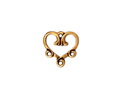 TierraCast Antique Gold (plated) 3-1 Vine Heart Chandelier 13mm