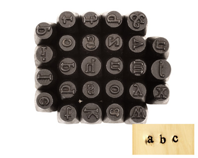 Block Lowercase Letters Metal Stamp Set w/ Box 3mm