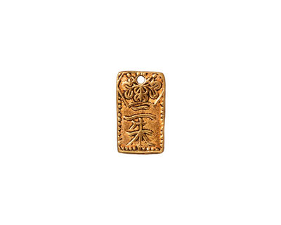 TierraCast Antique Gold (plated) Nisshu Charm 8x13mm