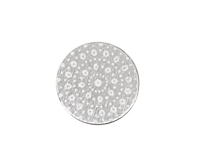 Lillypilly Silver Crochet Anodized Aluminum Disc 19mm, 22 gauge
