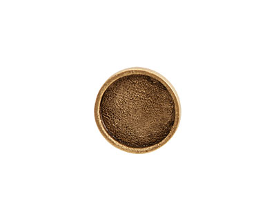 Nunn Design Antique Gold (plated) Mini Circle Screw Back Bezel 15mm