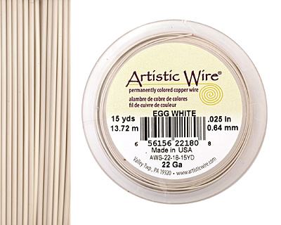 Artistic Wire Egg White 22 gauge, 15 yards