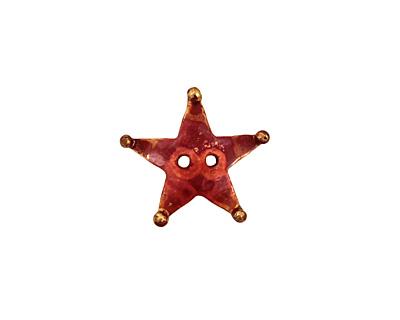 Patricia Healey Copper Star Button 17mm