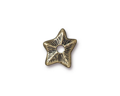 TierraCast Antique Brass (plated) Star Rivetable 14mm