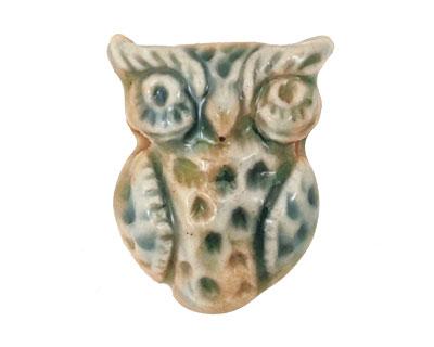 Gaea Ceramic Seaweed Owl 22x30mm