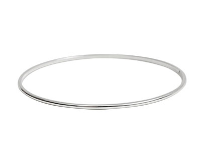 Nunn Design Sterling Silver (plated) Small Dome Bangle Bracelet 70mm