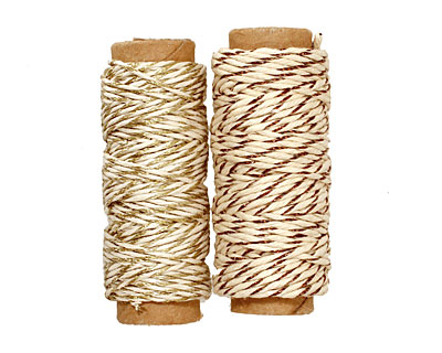 Metallic Gold/Copper Hemp Twine 20 lb, 29 ft x 2 colors