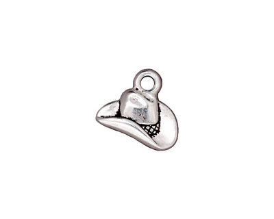 TierraCast Antique Silver (plated) Cowboy Hat Charm 14x12mm