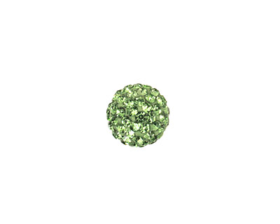 Peridot Pave Round 10mm