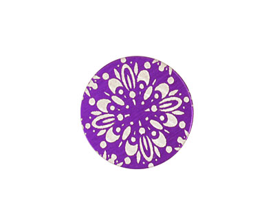 Lillypilly Purple Kaleidoscope Anodized Aluminum Disc 19mm, 24 gauge