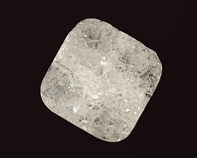 White Agate Druzy Flat Square 20-22mm