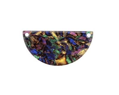 Zola Elements Abalone Acetate Half Circle Link 30x15mm