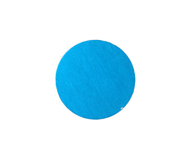 Lillypilly Turquoise Anodized Aluminum Disc 19mm, 24 gauge