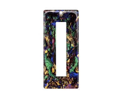 Zola Elements Abalone Acetate Rectangle Donut 22x49mm