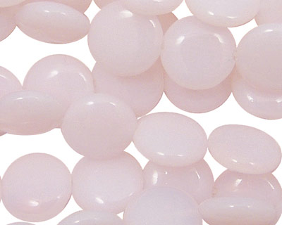 Pink Opalite (syn.) Puff Coin 12mm