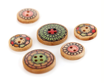 Paper Cottage Wooden Buttons
